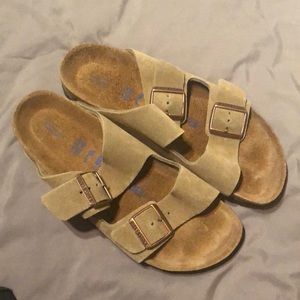 Birkenstock 'Arizona' suede soft sole NEW 39